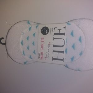 HUE Accessories - Assorted low cut white liner 3 pairs hues
